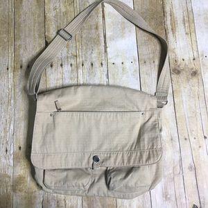 Fossil canvas messenger bag.